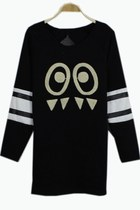 Casual Eye Embroidered Fleece Sweatshirt