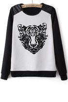 Paneled Tiger Graphic Sweatshirt