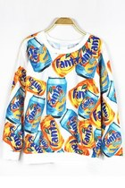 Personalized Fanta Cans Graphic Sweatshirt