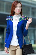 Candy Color One-button Slim Blazer