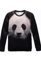 Lifelike Panda Graphic Sweatshirt