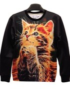 Lovely Lifelike Cat Sweatshirt