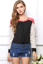 Color Block OL Lady Shirt
