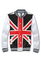 Fashion Cross Print Baseball Jacket