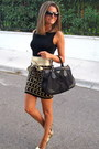 Black-prada-bag-gold-bakers-heels-gold-forever-21-skirt-black-zara-t-shirt