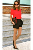 black Calzados Gredos shoes - black Zara bag - black Zara shorts