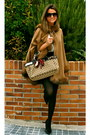 Camel-gucci-bag-black-zara-shorts-camel-barami-cape-black-nine-west-heels