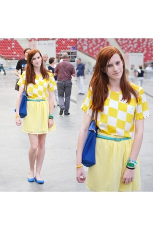 yellow DIY skirt