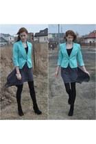 mint Bershka blazer - black Novamoda leggings - grey wholesale skirt