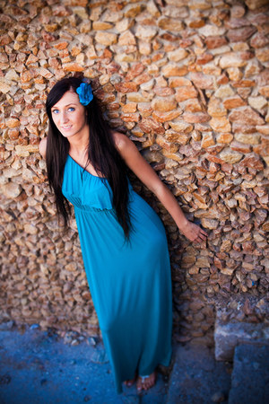 turquoise blue Forever 21 dress
