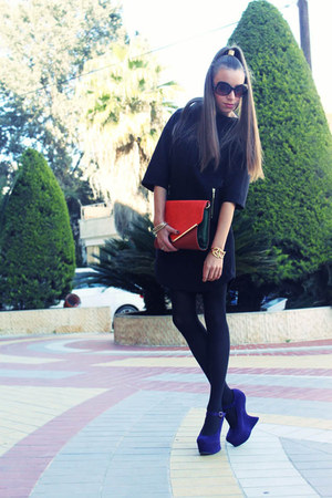 shoebox shoes - Zara dress - charles&amp;keith bag