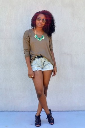 brown Rose Wholesale sweater - heather gray Forever 21 shorts