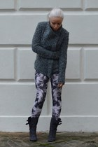 charcoal gray Laurence Dacade boots - charcoal gray Isabel Marant jacket