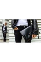 balenciaga jacket - quilted biker Balmain jeans - antigona clutch Givenchy bag