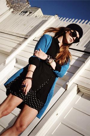 blue Motel sweater - heather gray mesh boots Miista shoes