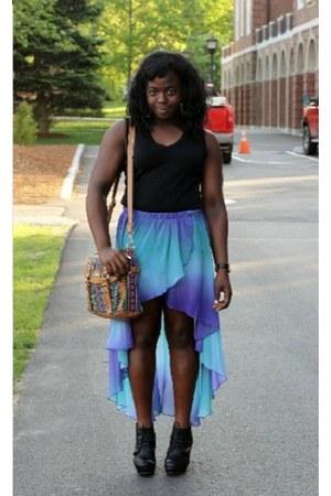 modcloth skirt - modcloth skirt - chiffon hi-lo modcloth skirt - Shoedazzle bag