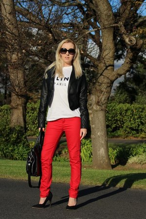 Celine t-shirt - Mr Price jeans - YDE jacket - Mr Price heels