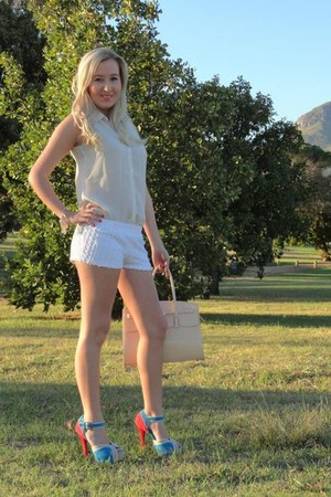 Aldo bag - Mr Price shorts - Plum heels