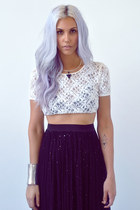 black sparkle Love skirt - periwinkle hair god accessories