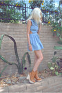 Light-blue-cut-out-denim-luluscom-dress-bronze-wood-jeffrey-campbell-boots
