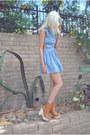 Light-blue-cut-out-denim-luluscom-dress-bronze-wood-jeffrey-campbell-boots