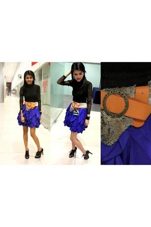 Forever 21 skirt - black michael antonio heels - Mango top