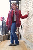 Target jacket - Nine West boots - Eddie Bauer shirt - Handmade by my aunt scarf