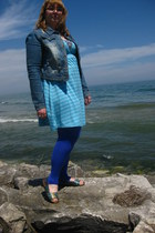 blue jou jou jacket - sky blue Target dress - turquoise blue ICON sandals