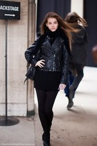 black Bershka dress - dark gray H&M boots - black H&M jacket