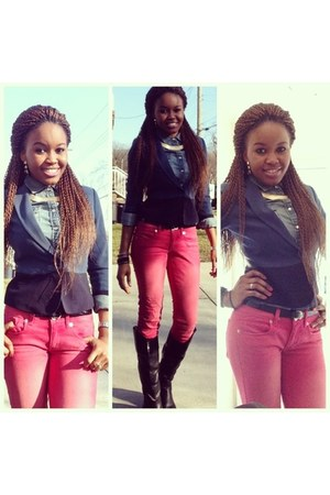 Forever21 blazer - Candies boots - American Eagle jeans