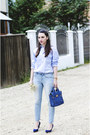 Orsay-jeans-light-blue-zara-shirt-blue-persunmall-bag-blue-zara-heels