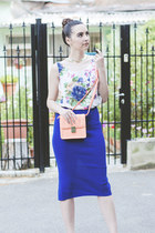 blue Kristines Collection skirt - H&M bag - H&M necklace