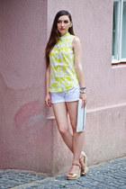 H&M shirt - white Terranova shorts