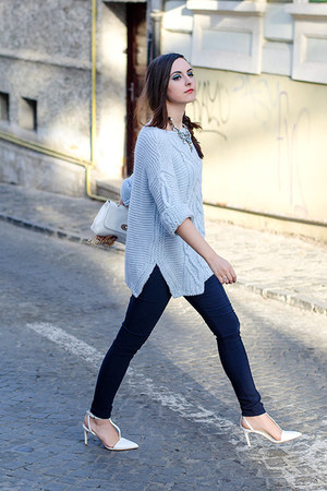 Zara sweater - H&M leggings - Zara heels