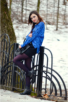 black H&M boots - black asos skirt