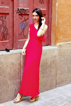 red maxi Candy Couture dress