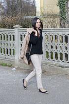 H&M bag - PERSUNMALL coat - Zara pants - H&M flats