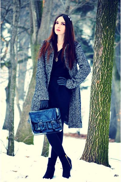 H&M boots - H&M bag - asos skirt