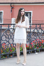White-front-row-shop-dress-neutral-zara-heels
