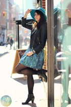 turquoise blue Target hat - black Shop in Amsterdam boots