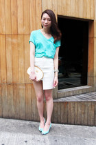 H&M skirt - gucci vintage bag - Yesstyle top - Zara heels