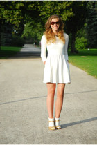 white Zara dress - ivory lace Dorothy Perkins socks