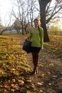 Black-jouni-bag-chartreuse-thrifted-sweater-black-thrifted-skirt