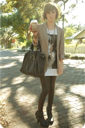 hinge blazer - Forever 21 t-shirt - American Apparel leggings - guess by marcian