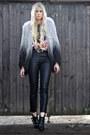 Topshop-coat-kooples-boots-topshop-pants-ebay-t-shirt