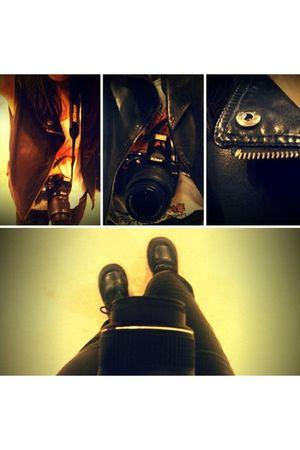 black doc martens boots - white vintage rolling stones tee shirt - black vintage