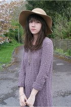 Knit mini, basket, floppy hat