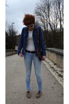 H&M jeans - Zara jacket - longchamp bag - Minelli flats