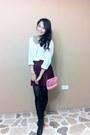Bubble-gum-coach-bag-brick-red-h-m-skirt-black-glo-heels