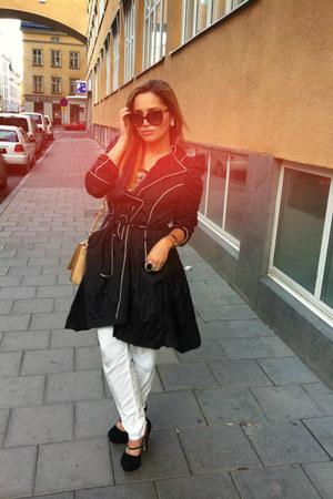 YSL shoes - cris coat - Miu bag - Stella McCartney pants